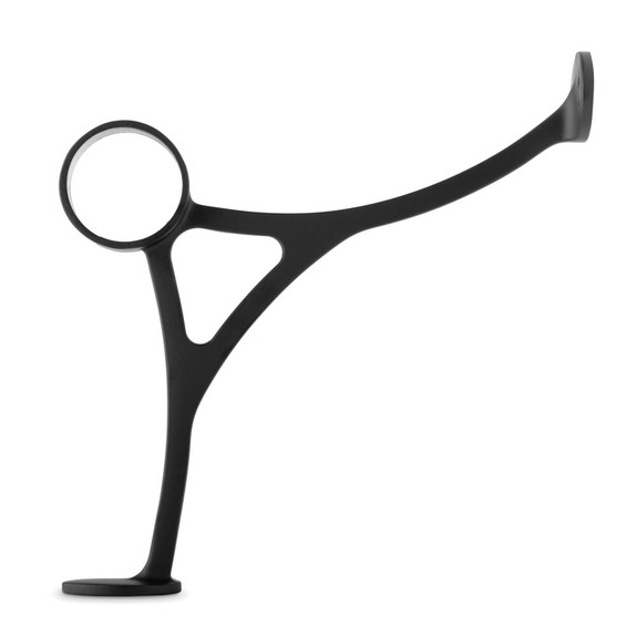"Combination Foot Rail Bracket - Matte Black - 1.5"" OD"