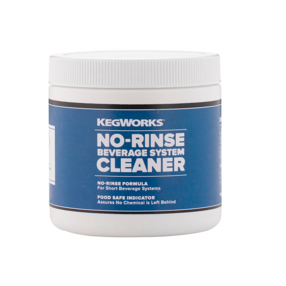 1 lb tub of KegWorks No-Rinse Beer Line Cleaning Powder