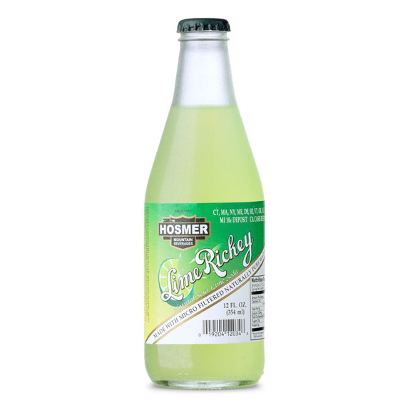 Hosmer Mountain Lime Rickey Soda - 12 oz Bottle