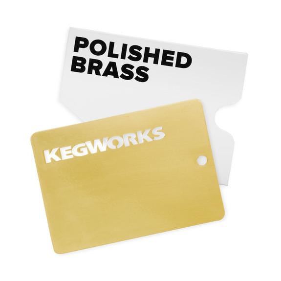 KegWorks Polished Brass Sample Chip