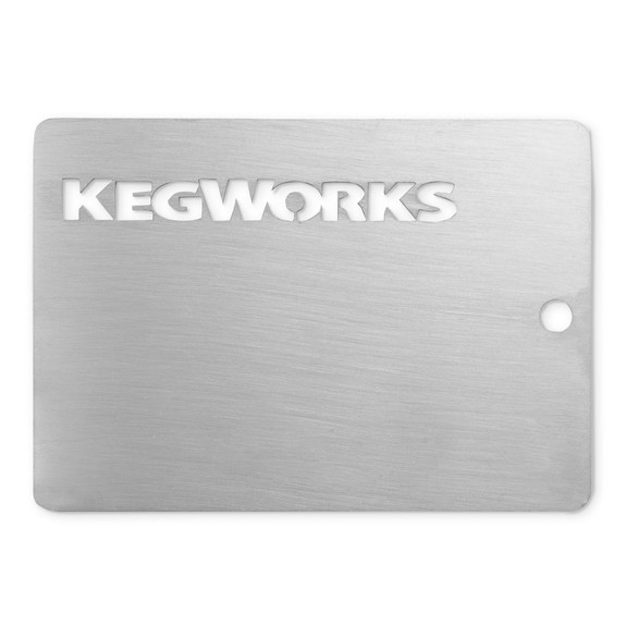 KegWorks Brushed Stainless Steel Sample Chip