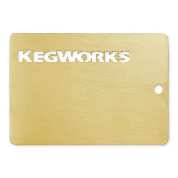 KegWorks Brushed Brass Sample Chip