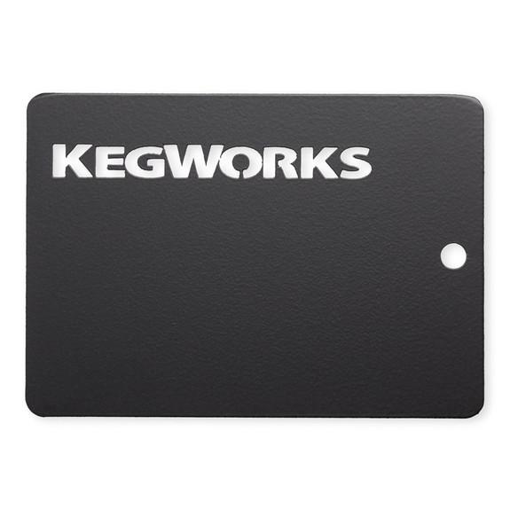 KegWorks Matte Black Sample Chip