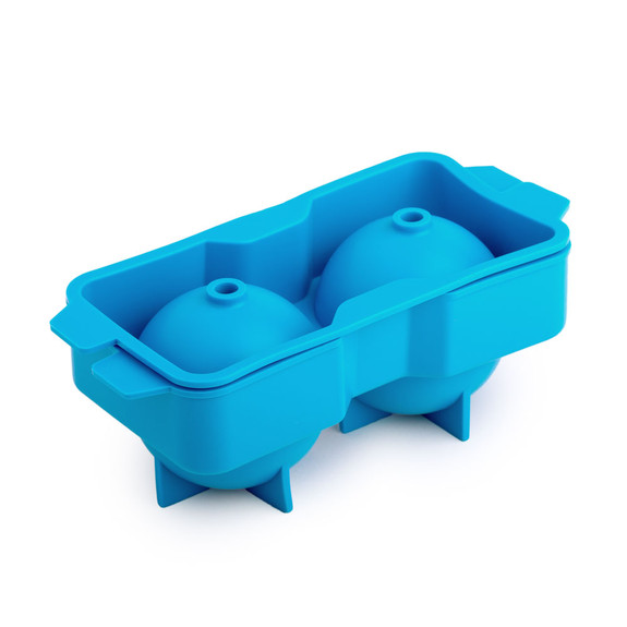 """Neptune Silicone Ice Ball Tray - Makes Two 2.25"""" Ice Spheres"""