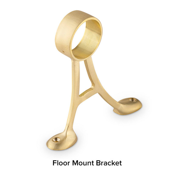 Brushed Brass Floor Mount Bracket