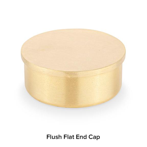 Brushed Brass Flush End Cap