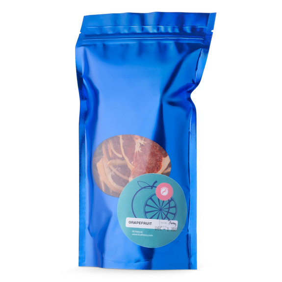 Blue Henry Dehydrated Grapefruit Cocktail Garnish - Dried Grapefruit Slices - 3 oz Pouch