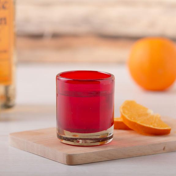 Hand-Blown Fire Red Glass Mezcal Shot Glasses - 1.5 oz - Set of 6