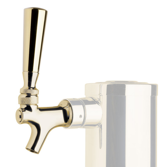 Heavyweight Beer Faucet Tap Handle - Polished Brass