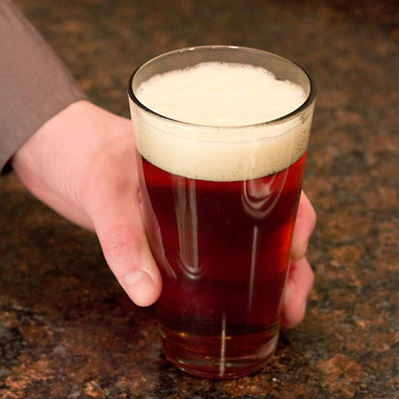 Anchor Hocking Pint Mixing Glass with Beer