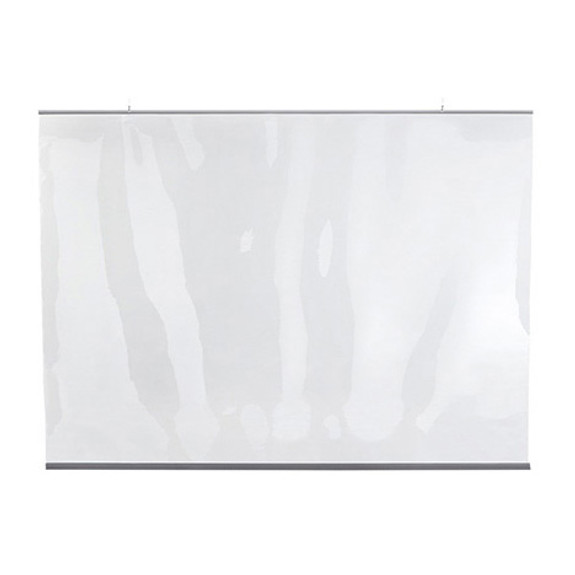"Hanging Protective Clear PVC Counter & Bar Partition - 54""W x 36""H"