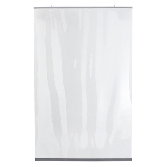 """Hanging Protective Clear PVC Restaurant Partition - 54""""W x 84""""H"""
