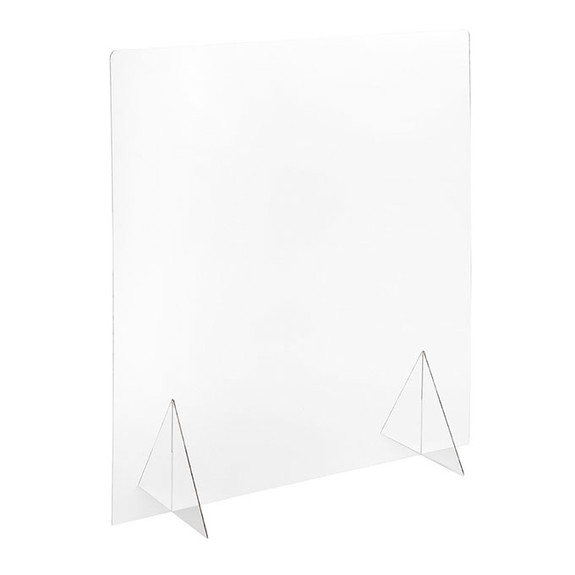 """Self-Standing Protective Clear Acrylic Shield - For Counters, Tables & Bars - 30""""W x 32""""H"""