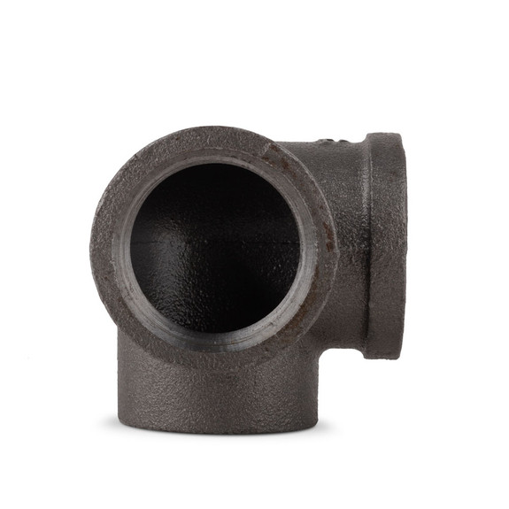 "90° Side Outlet Elbow - Black Pipe Foot Rail - 1.5"" ID"