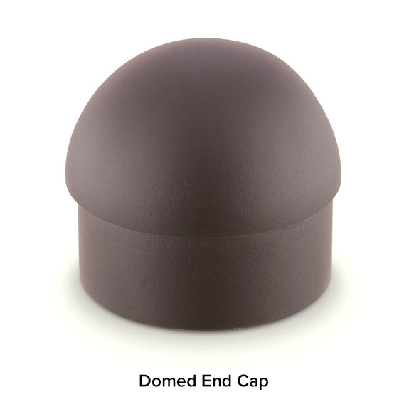 Oil Rubbed Bronze Bar Foot Rail Kit - Domed End Cap