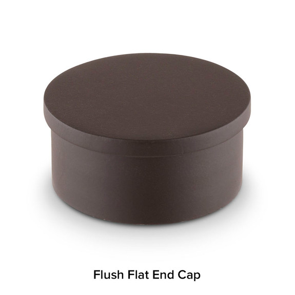 Oil Rubbed Bronze Bar Foot Rail Kit - Flush End Cap