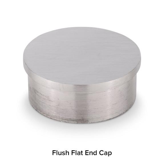 Brushed Stainless Steel Bar Foot Rail Kit - Flush End Cap