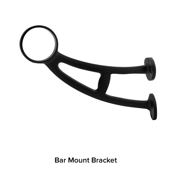 Matte Black Bar Foot Rail Kit - Bar Mount Bracket