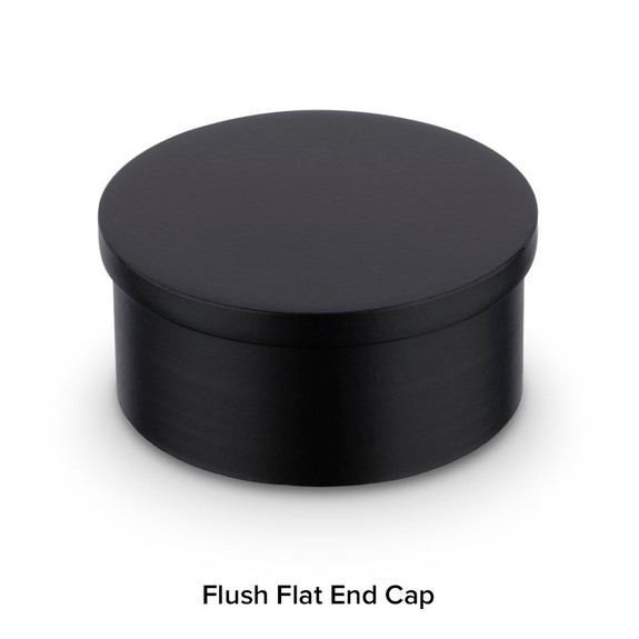 Matte Black Bar Foot Rail Kit - Flush End Cap