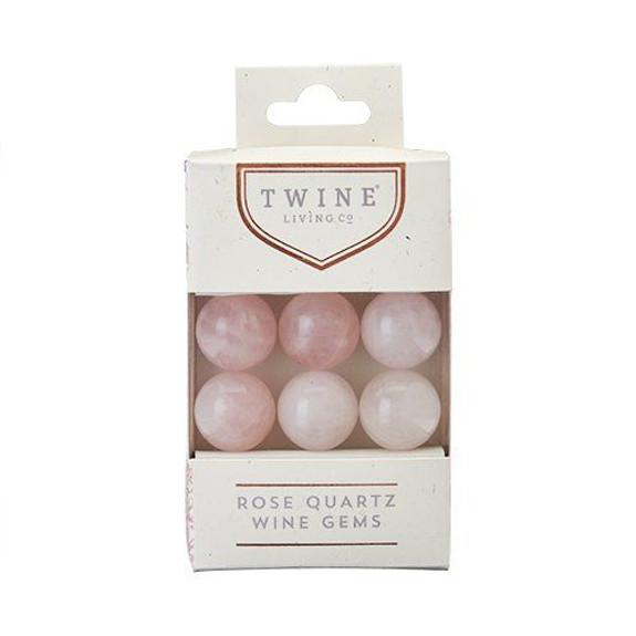 Rose Quartz Wine Chilling Gems - Set of 6