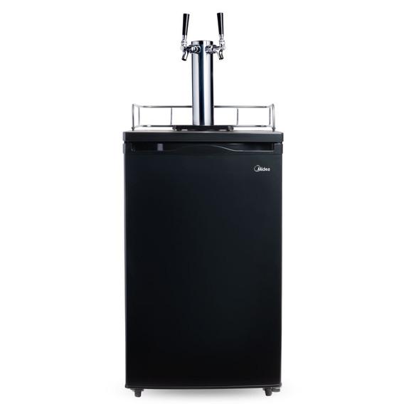 Economy Kegerator - 2 Faucet - Black Door
