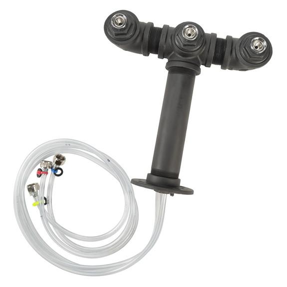 Draft Beer Tower - Black Iron - Triple Tap - Standard Faucet