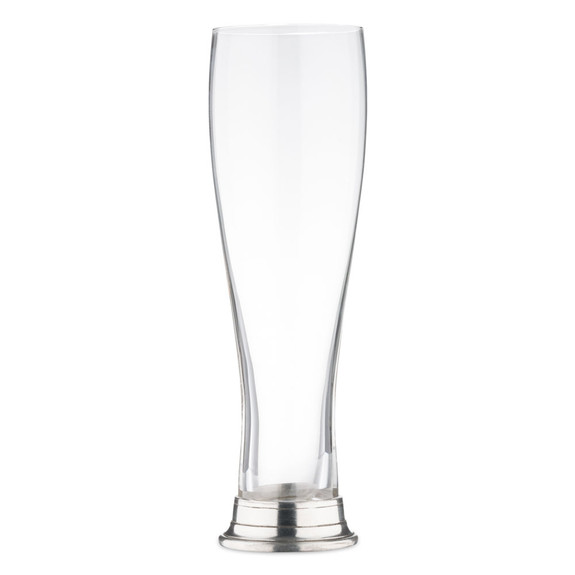 MATCH Handmade Italian Pewter Footed Pilsner Beer Glass - 16 oz
