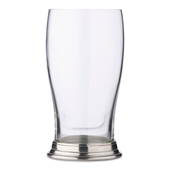 MATCH Handmade Italian Pewter Footed Imperial Pint Beer Glass - 20 oz