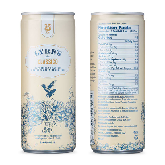 Lyre's Non-Alcoholic Ready To Drink Craft Cocktails - 8.45 oz Cans - Mixed Pack of 12