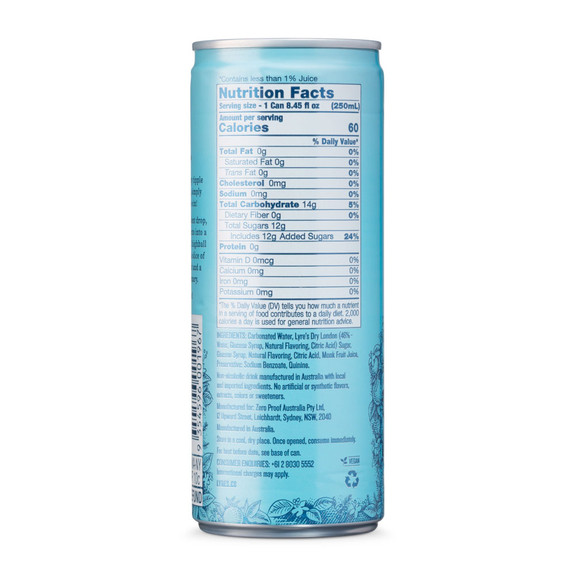 Lyre's G&T Non-Alcoholic Ready To Drink Craft Cocktail - 8.45 oz Can - 4 Pack
