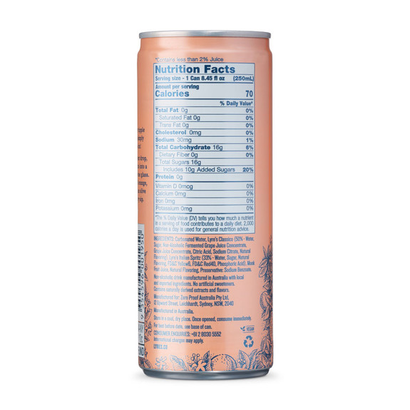 Lyre's Amalfi Spritz Non-Alcoholic Craft Cocktail - 8.45 oz Can - 4 Pack