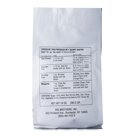 Fee Brothers Swee-Tart Cocktail Sour Mix - 10 oz - Powdered - Case of 12 Packs