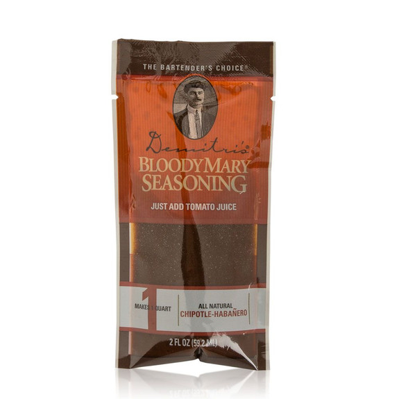 Demitri's Bloody Mary Seasoning Mix 2 oz Pouch Sampler Pack - Set Of 4