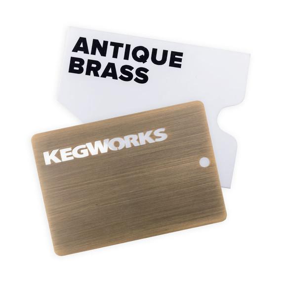 KegWorks Antique Brass Sample Chip