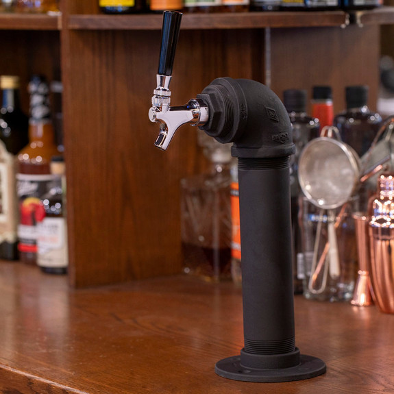 Draft Beer Tower - Black Iron - Single Tap - Standard Faucet