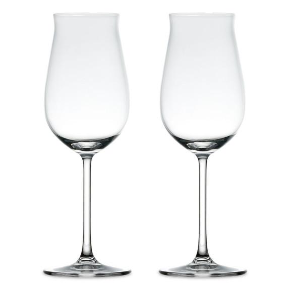 Nude Glass Vintage Rose Crystal Wine Glasses - 10.75 oz - Set of 2