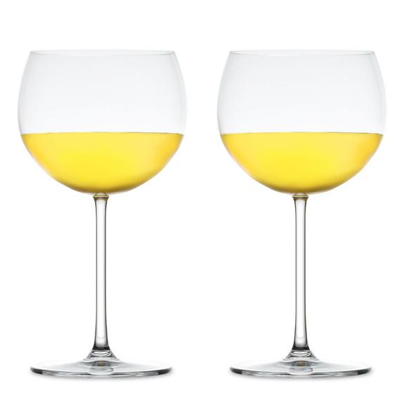 Nude Glass Vintage Bourgogne Blanc Crystal White Burgundy Wine Glasses - 18.5 oz - Set of 2