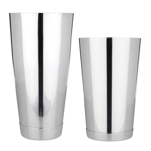 Viski Professional Weighted 18/8 Stainless Steel Boston Shaker Tin Set