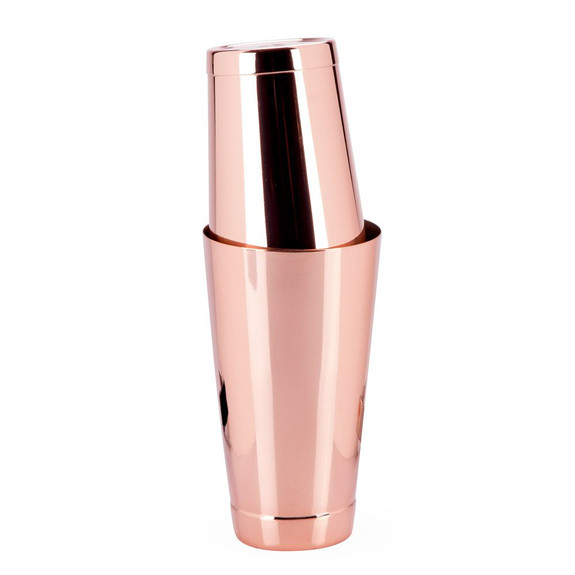 Urban Bar Ginza Weighted Tall & Short Shaker Tin Set - Copper Plated