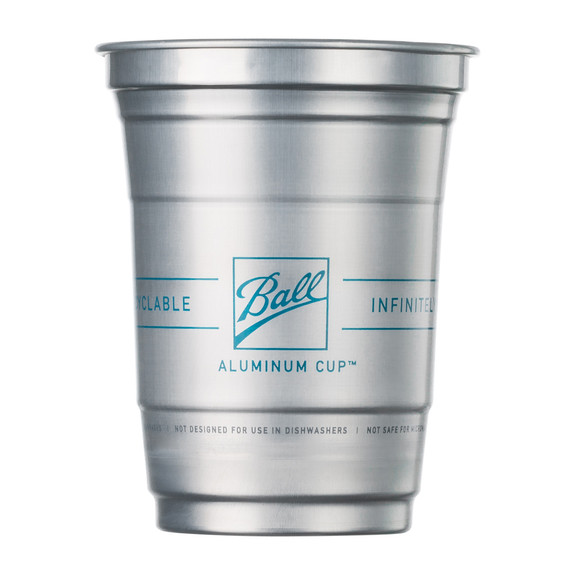 Ball Aluminum Drink Cups - The Ultimate 100% Recyclable Cold-Drink Cup - 16 oz - 24 Pack