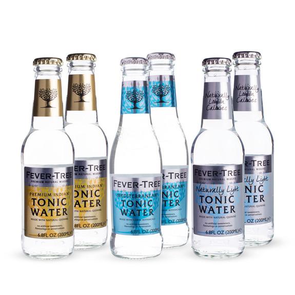 Fever Tree Tonic Water Sampler Pack - Set of 6
