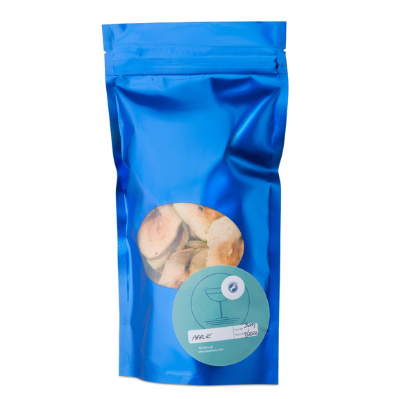Blue Henry Dehydrated Apple Cocktail Garnish - Dried Apple Slices - 3 oz Pouch