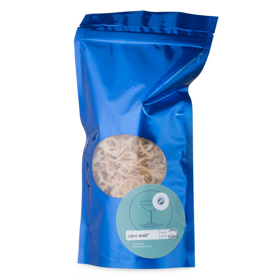 Blue Henry Dehydrated Lotus Root Cocktail Garnish - Dried Lotus Root - 3 oz Pouch