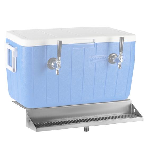"24"" x 5"" Jockey Box Drip Tray - Stainless Steel"