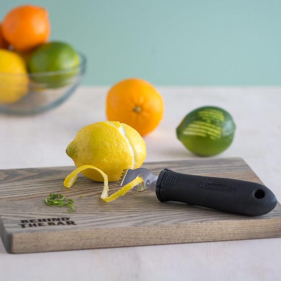 Behind The Bar�� Premium Wood Bar Cutting Board & Garnish Tool Set - 4 Pieces