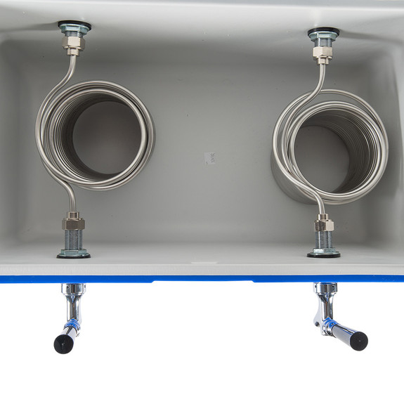 Double Faucet Jockey Box - 70' Coils - Kit W/O C02 Tank