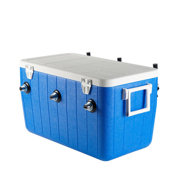 Triple Faucet Jockey Box - 50' Coils - Complete Kit Without CO2 Tank