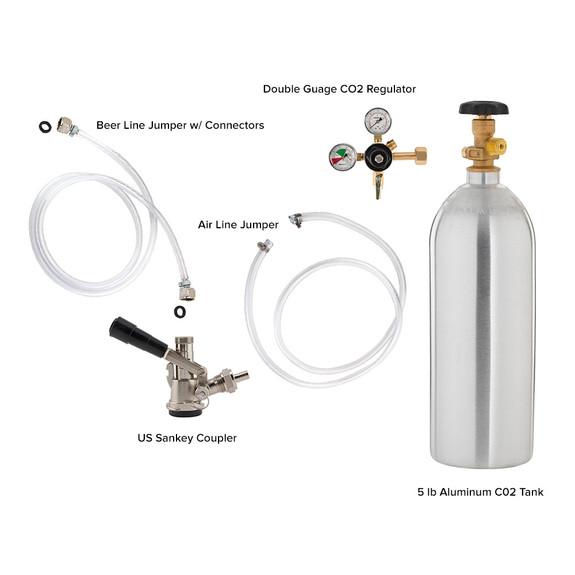 Single Faucet Jockey Box - 70' Coil - Complete Kit