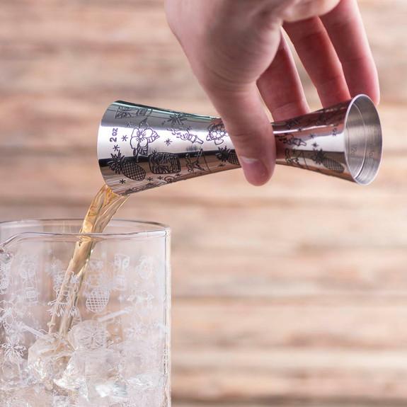 Urban Bar Tiki Pattern Jigger