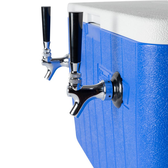 Double Faucet Jockey Box - 70' Coils - Complete Kit